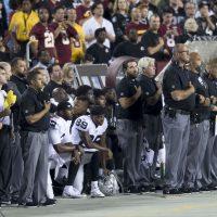 Oakland Raiders National Anthem Kneeling